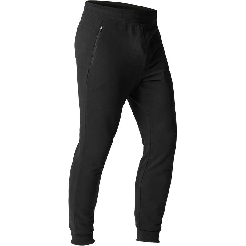 MAN GYM, PILATES COLD WEATHER APPAREL Clothing - 500 Slim-Fit Gym Bottoms DOMYOS - Clothing