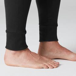 Jogginghose 500 Skinny Zip Pilates sanfte Gymnastik Herren schwarz