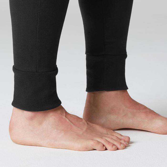 Pantalon 500 skinny zip Gym Stretching noir homme - 1504976
