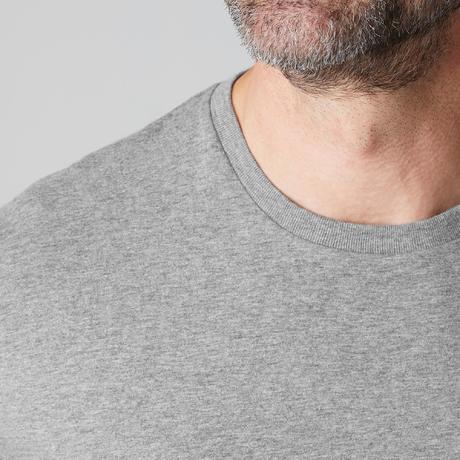 90f64a5fc4db 100 Regular-Fit Long-Sleeved Pilates & Gentle Gym T-Shirt - Mottled Grey.  Previous. Next