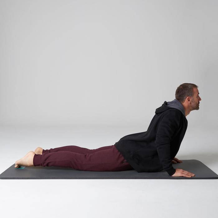 Pantalon 900 slim zip Gym Stretching homme bordeaux