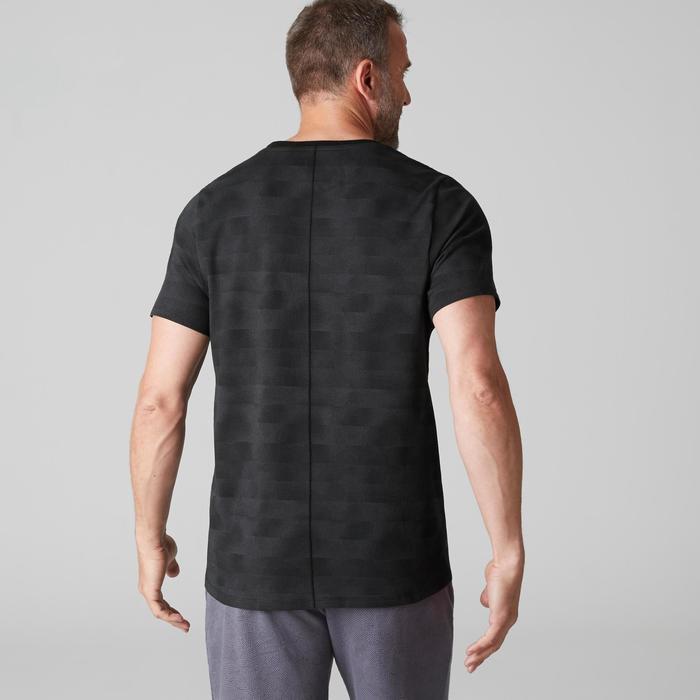 T-Shirt 520 V-Ausschnitt Regular Gym Herren schwarz