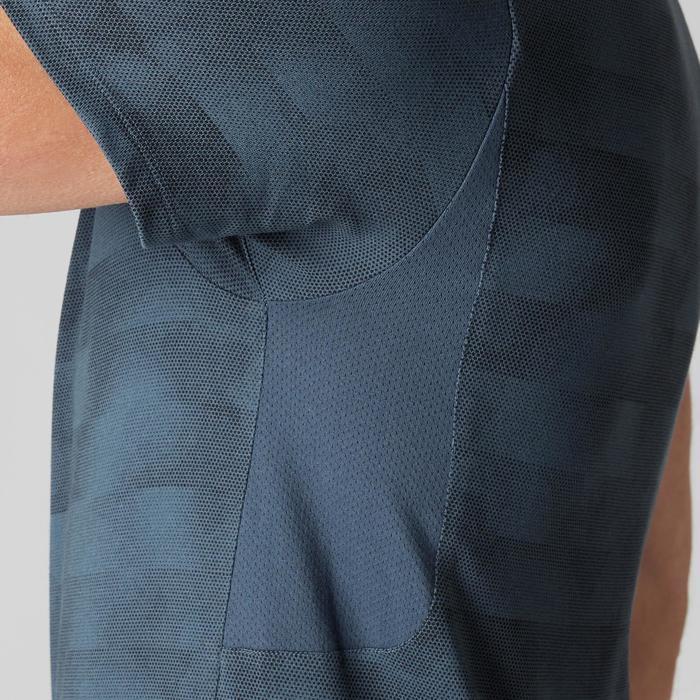 T-Shirt 520 slim col V Gym & Pilates homme printé - 1505017