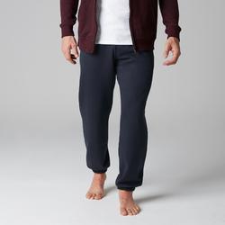 Pantalon 900 regular zip Gym Stretching noir homme