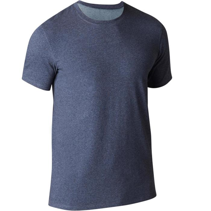 T-Shirt Gym 500 Regular Fitness Herren blau