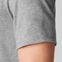 500 Regular-Fit Pilates & Gentle Exercise T-Shirt - Mottled Light Grey