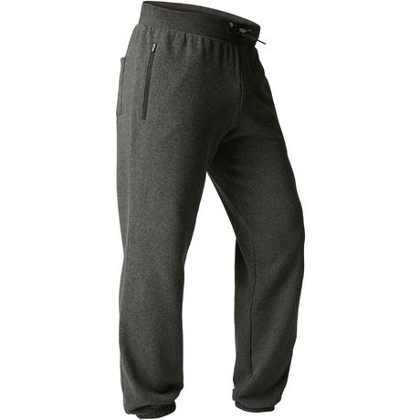 34089aecccae Pantaloni uomo regular gym stretching 500 verde militare melange | Domyos  by Decathlon
