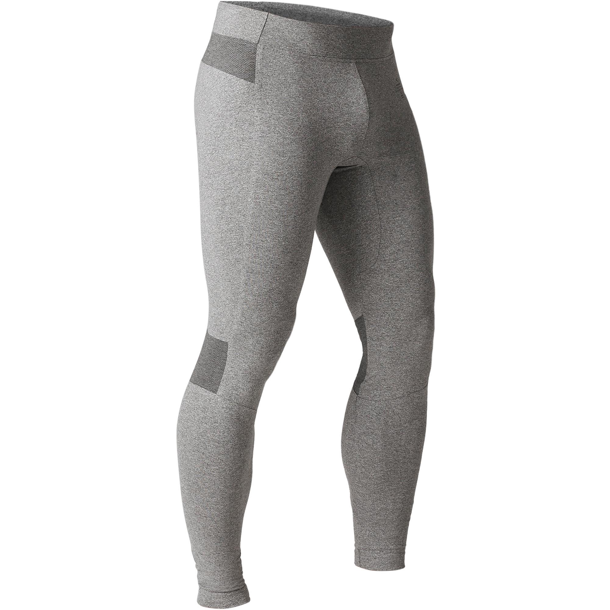 Domyos Skintight 900 voor heren, voor gym en stretching en pilates skinny fit grijs