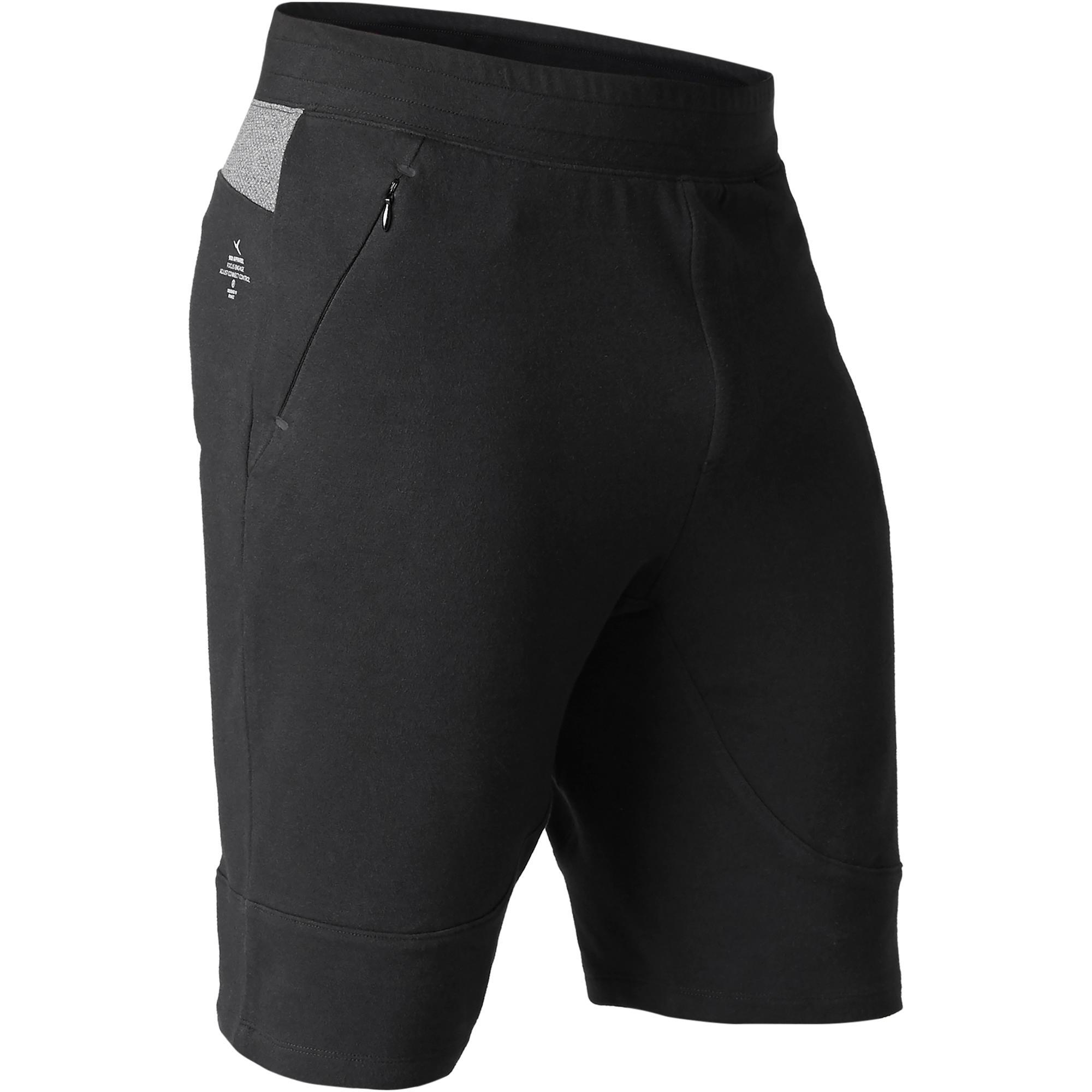 Short 560 slim largo sobre las rodillas Pilates y Gimnasia suave negro hombre