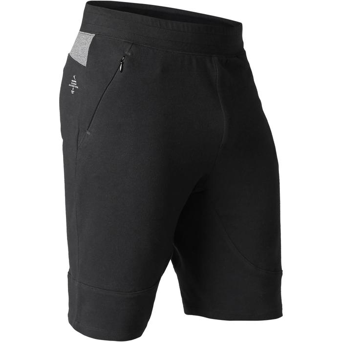 Short 900 slim au dessus du genou Gym Stretching & Pilates noir homme - 1505061
