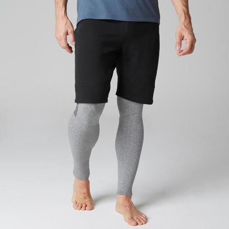 Short 560 slim para hombre, largo sobre rodillas Pilates-Gimnasia suave, negro