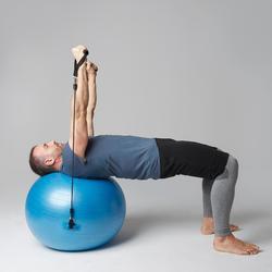 Short 560 slim au dessus du genou Pilates Gym douce noir homme