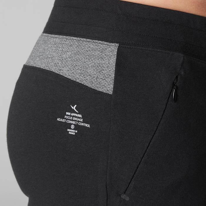 Short 900 slim au dessus du genou Gym Stretching & Pilates noir homme - 1505075