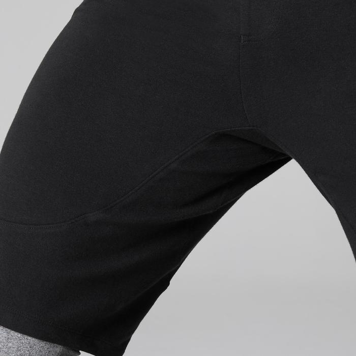 Short 900 slim au dessus du genou Gym Stretching & Pilates noir homme - 1505087