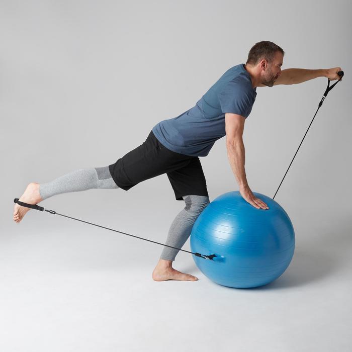 Short 560 slim fit tot boven de knie pilates en lichte gym heren zwart