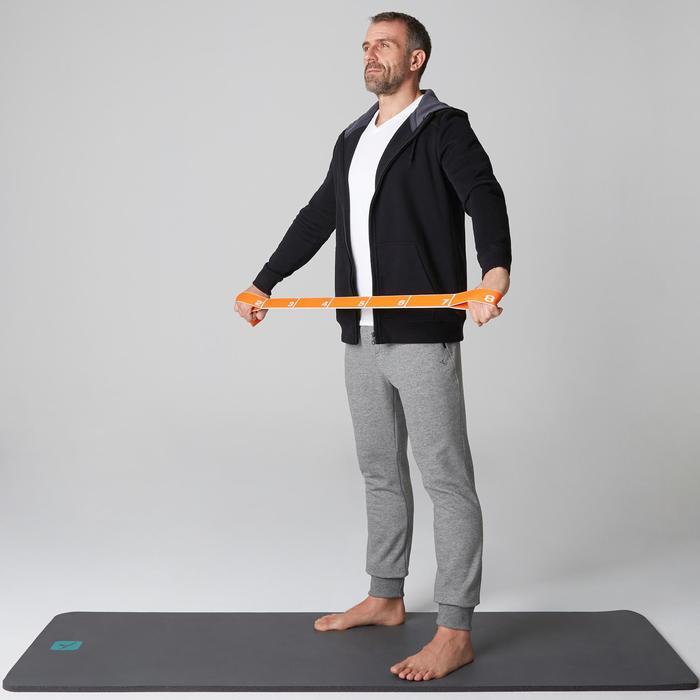 Herenbroek 900 voor gym en stretching slim fit met rits lichtgrijs