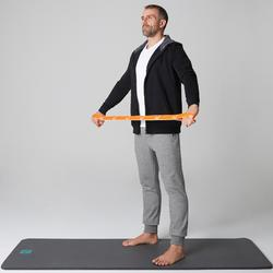 Jogginghose 500 Slim Zip Pilates sanfte Gymnastik Herren hellgrau