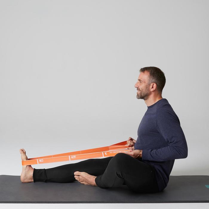Pantalon 500 skinny zip Gym Stretching noir homme - 1505117