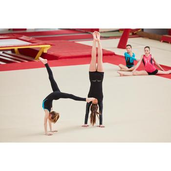 Justaucorps manches longues gymnastique artistique féminine noir et sequins - 1505122