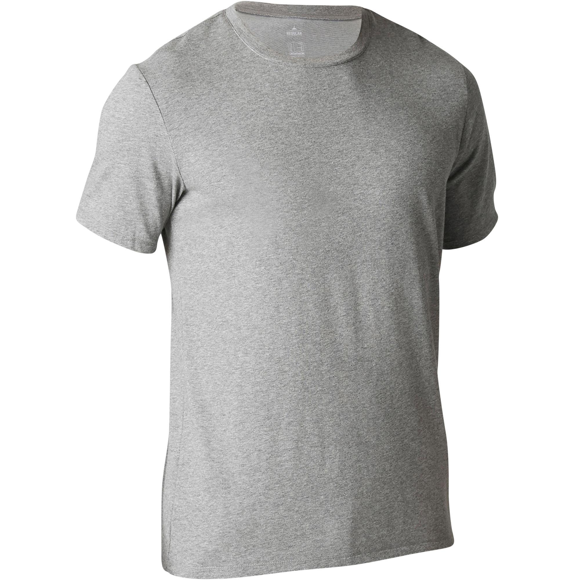 Domyos T-shirt 500 regular fit pilates en lichte gym heren