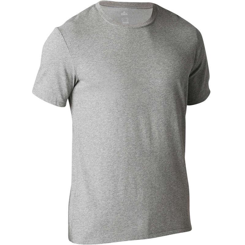 MAN GYM, PILATES APPAREL Clothing - 500 Regular Gym T-Shirt - Grey NYAMBA - Tops