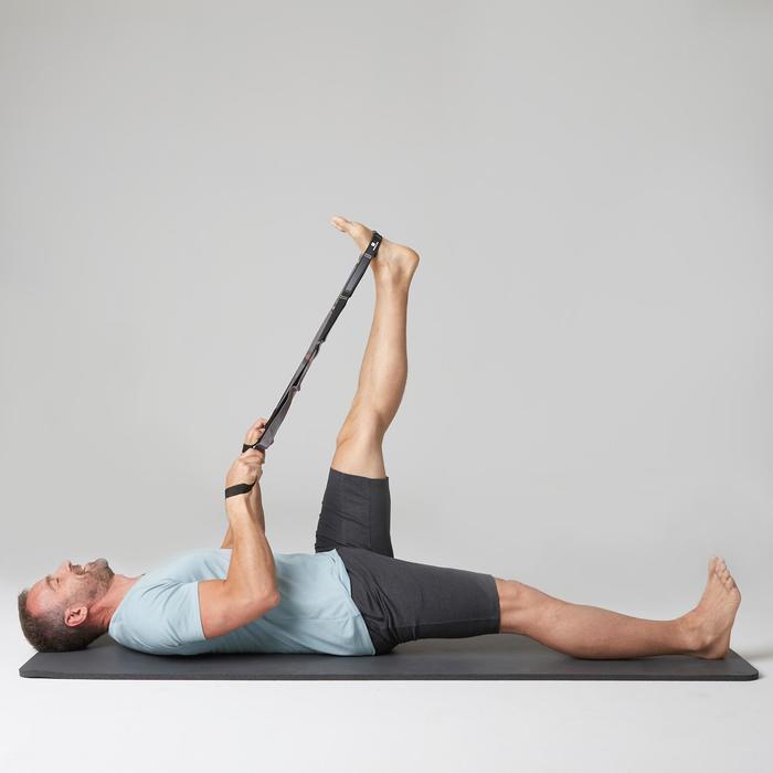 T-Shirt Gym 500 V-Ausschnitt Slim Fitness Herren hellblau