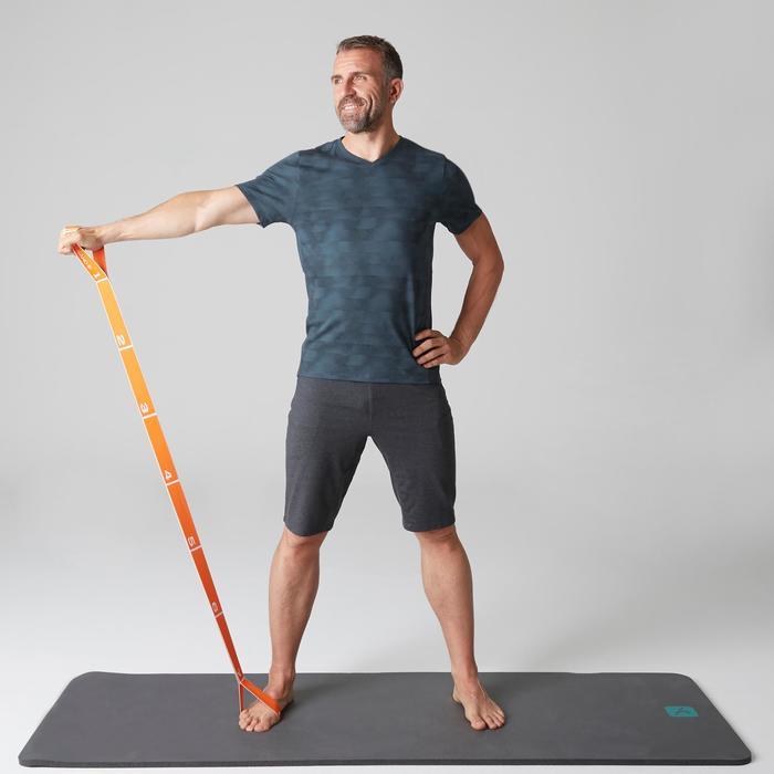 T-Shirt 520 slim col V Gym & Pilates homme printé - 1505132
