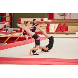Gymnastikhose kurz 100 Kunstturnen schwarz