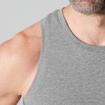 Camiseta sin mangas 500 regular Pilates y Gimnasia suave hombre gris claro  jasp 357aa48e77915