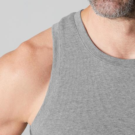 Débardeur 500 regular Pilates Gym douce homme gris clair chiné. Previous.  Next 4e629c27d9b0