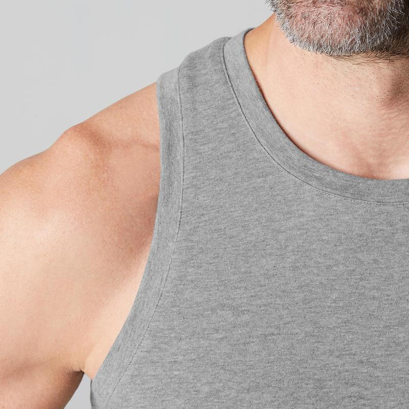 110f43c8301ce7 500 Regular-Fit Pilates   Gentle Gym Tank Top - Mottled Grey ...