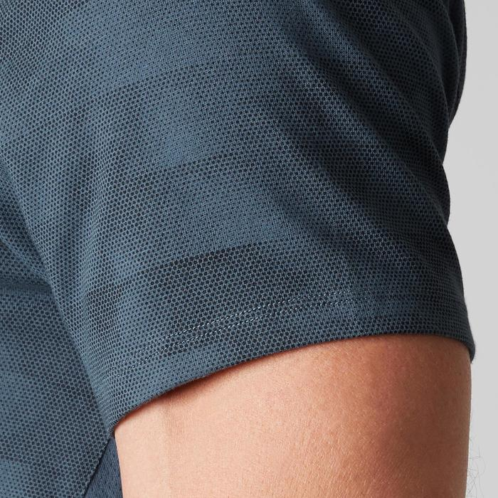 T-Shirt 520 slim col V Gym & Pilates homme printé - 1505137
