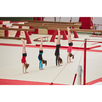 Justaucorps gymnastique artistique féminine noir turquoise sequins