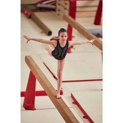 Justaucorps sans manches de gymnastique artistique féminine strass noir