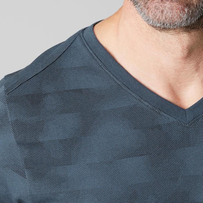 T-Shirt 520 slim col V Gym & Pilates homme printé - 1505146