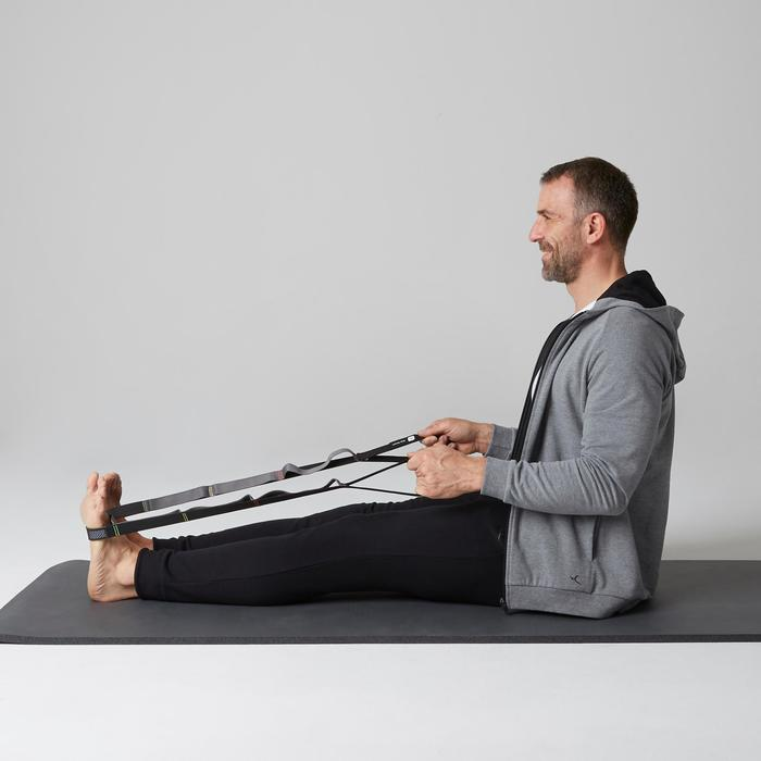 Herenbroek 500 voor lichte gym en pilates slim fit met rits zwart