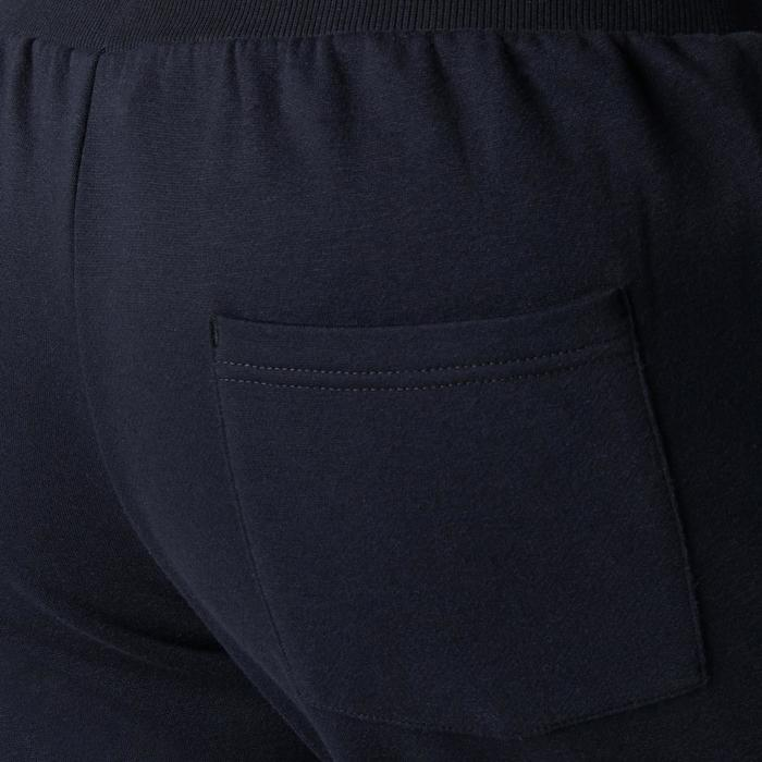 Pantalon 900 regular zip Gym Stretching noir homme