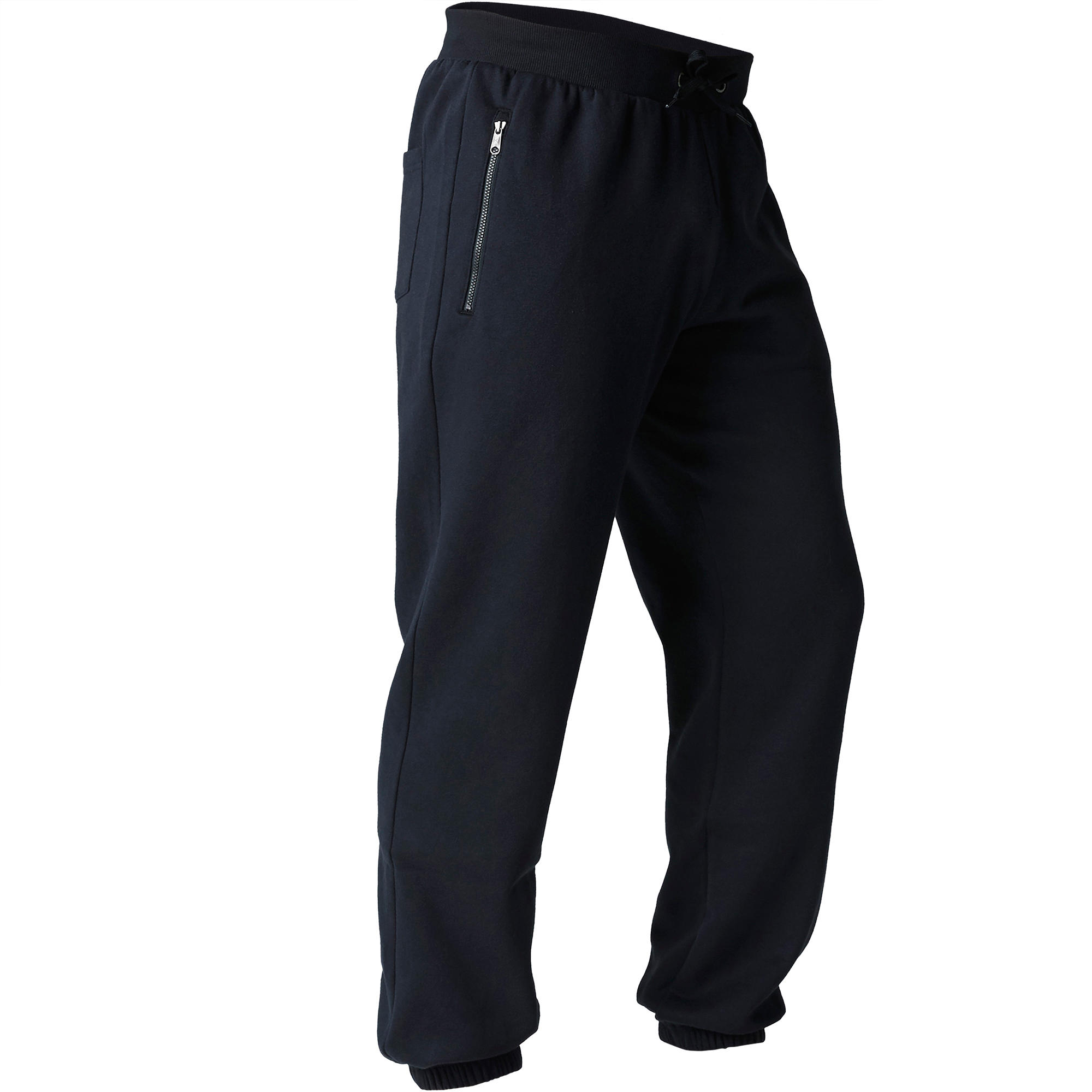 900 Regular-Fit Zipper Stretching Bottoms - Black