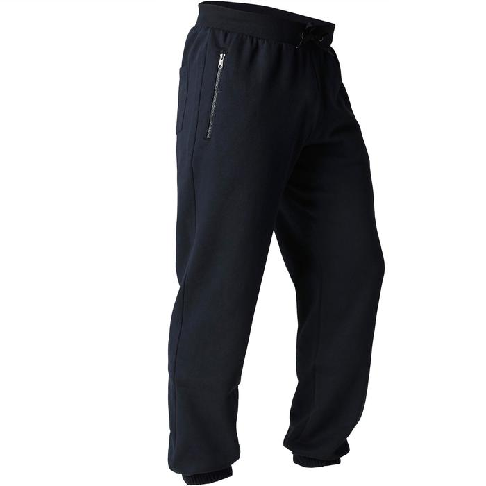 Jogginghose 900 Regular Gym Stretching Herren schwarz