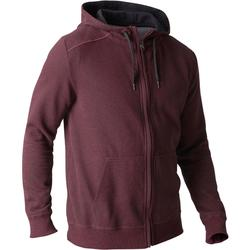 Veste 900 capuche Gym Stretching homme bordeaux