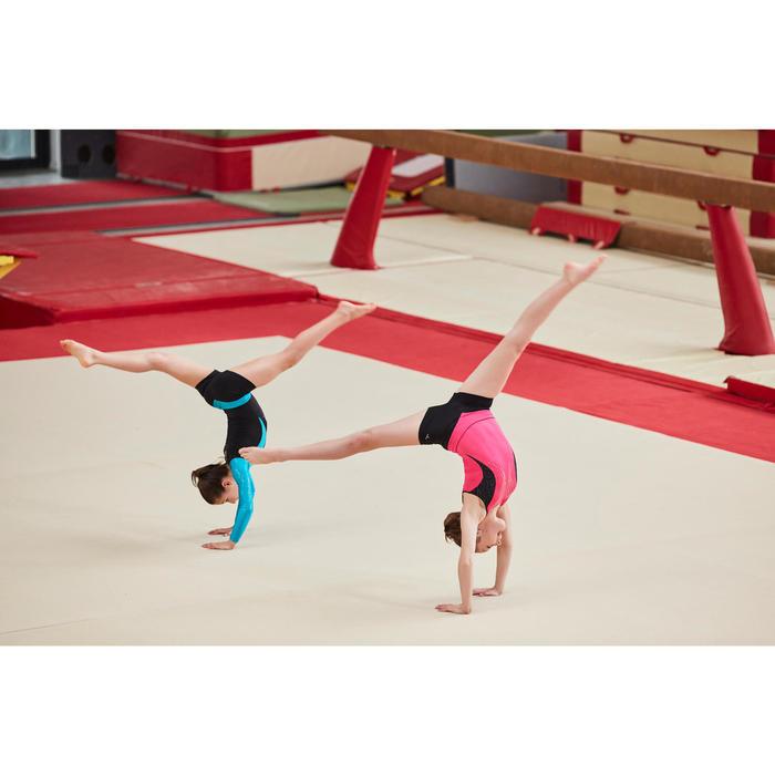 Justaucorps gymnastique artistique féminine rose sequins