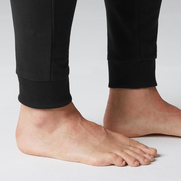 修身剪裁溫和健身與皮拉提斯長褲500 - 黑色