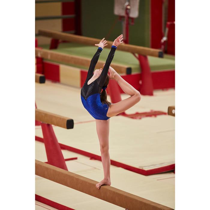 Justaucorps manches longues de gymnastique artistique féminine strass - 1505206