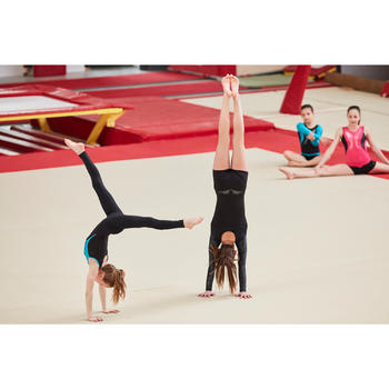 Legging de gymnastique artistique féminine noir sequins - 1505209
