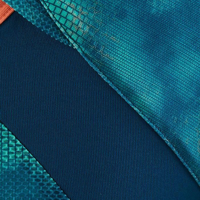 T-Shirt manches courtes S900 Gym Fille imprimé bleu