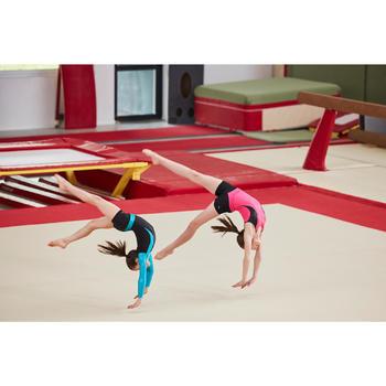 Justaucorps manches longues gymnastique artistique féminine noir et sequins - 1505235