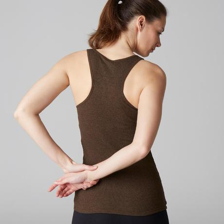 Débardeur 500 Gym Stretching femme kaki. Previous. Next a22a9e7267d