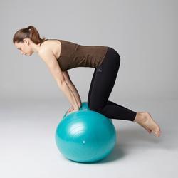 Damestop 500 voor gym en stretching kaki