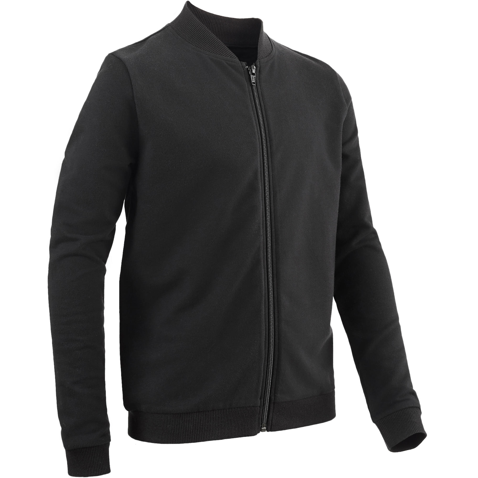 100 Boys' Gym Jacket - Black