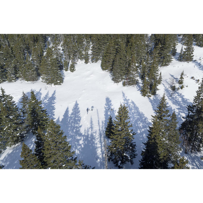 SH500 Men's x-warm stretch black snow hiking trousers. - 1505324